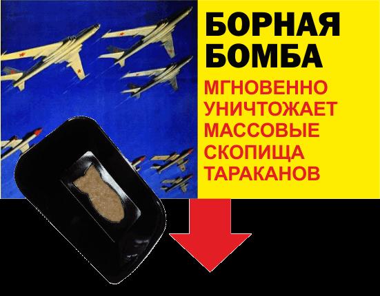 Плакат Бомба - Три совета как избавиться от тараканов раз и навсегда